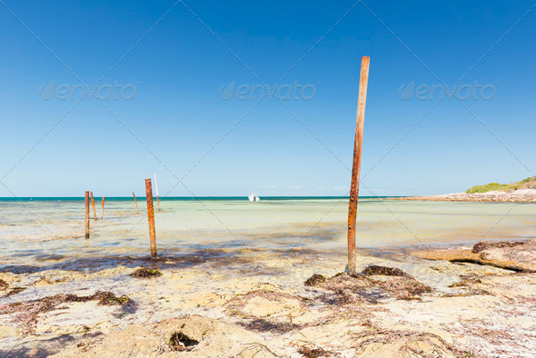 Ocean Poles - Stock Photo - Images
