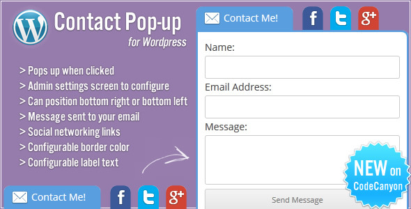 CodeCanyon Contact Form Pop-up 4080981