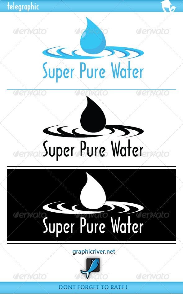 GraphicRiver SuperPure Water Logo 3960507