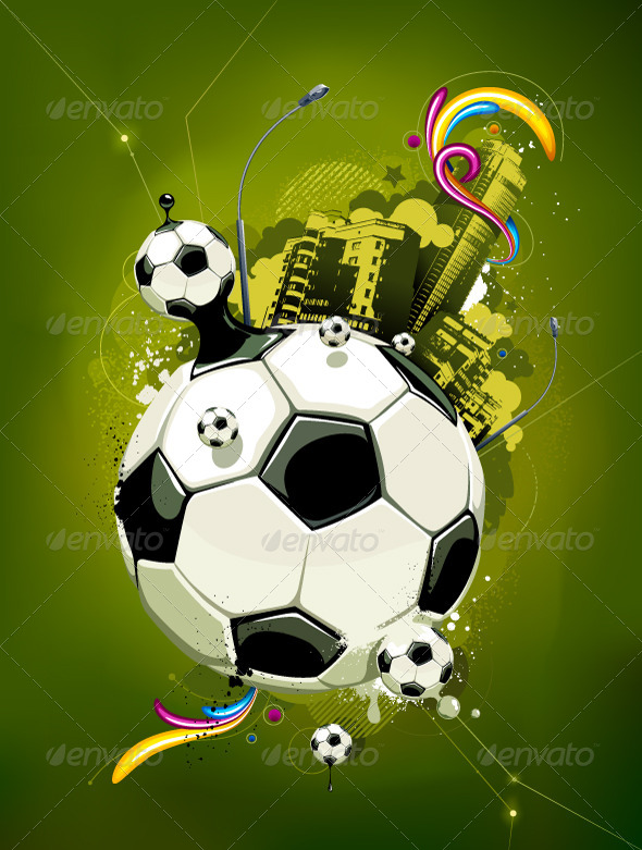 GraphicRiver Soccer Balls and Urban Elements 4081569