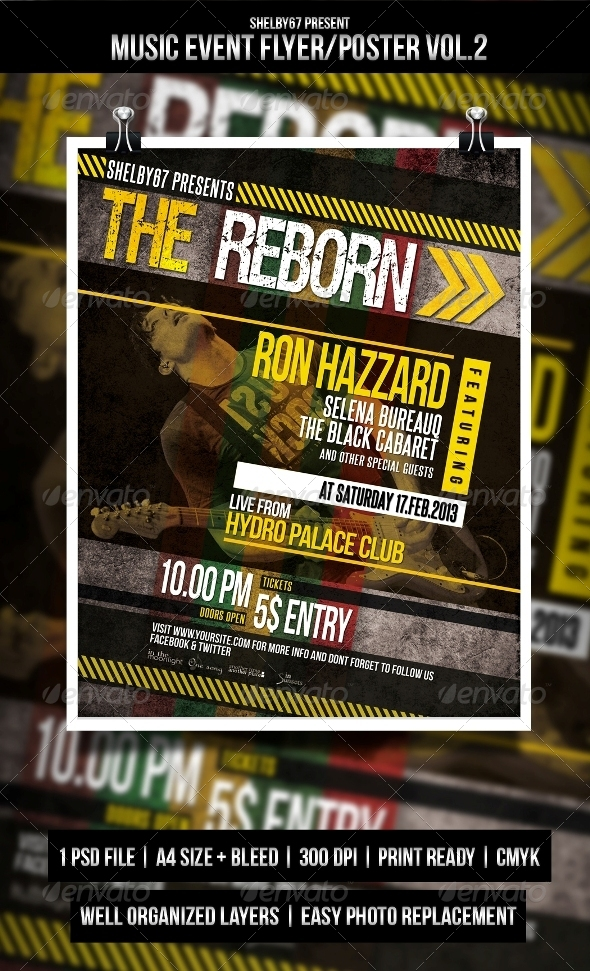 Music Event Flyer / Poster Vol.2 - Events Flyers