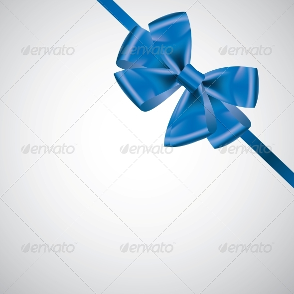 GraphicRiver Ribbon with Bow on White 4081933