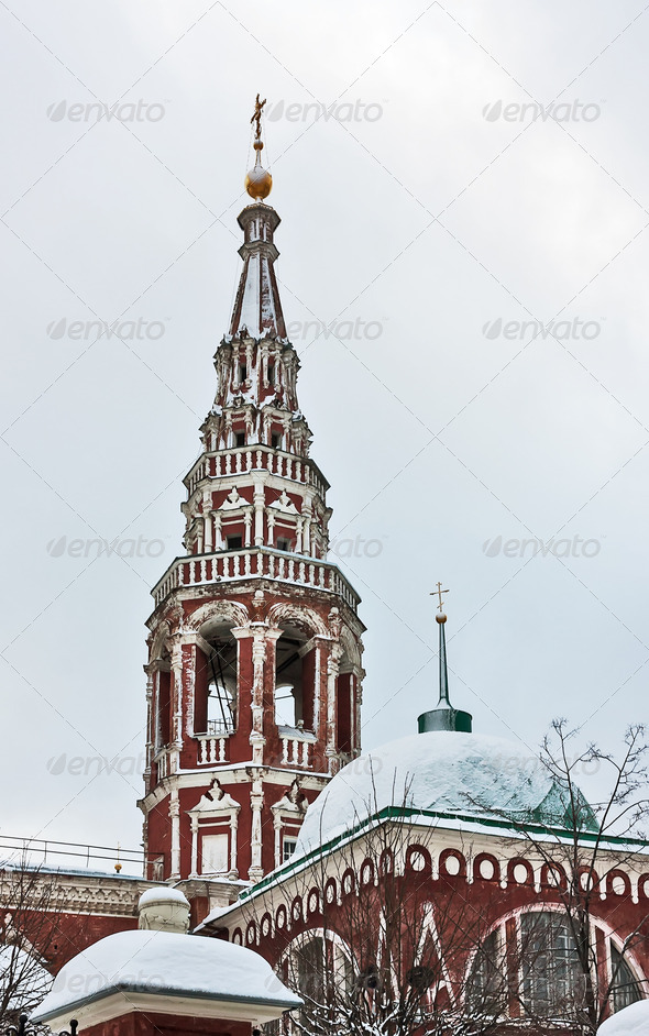 PhotoDune Church of the Resurrection in Kadashi Moscow Russia 4082335