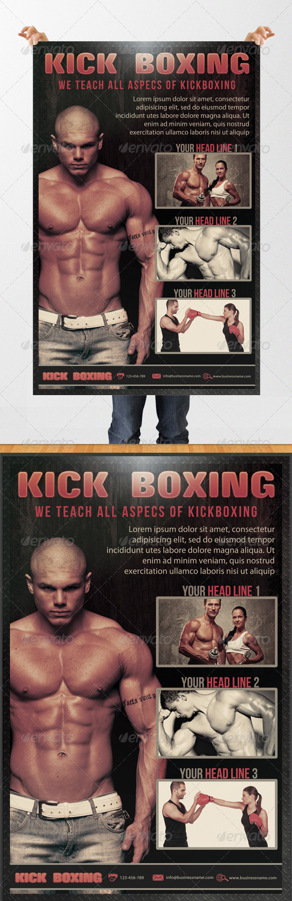 GraphicRiver Kick Boxing Flyer 3736980