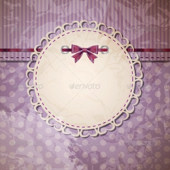 GraphicRiver Vintage Frame with Bow Vector Illustration 4082456