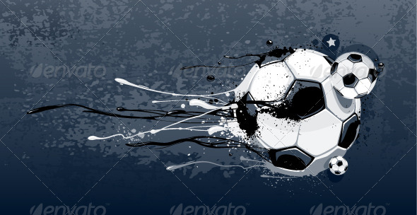 GraphicRiver Abstract Image of Soccer Balls 4082554
