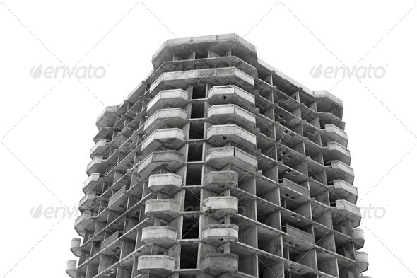 PhotoDune Unfinished high rise building concrete structure 4082840