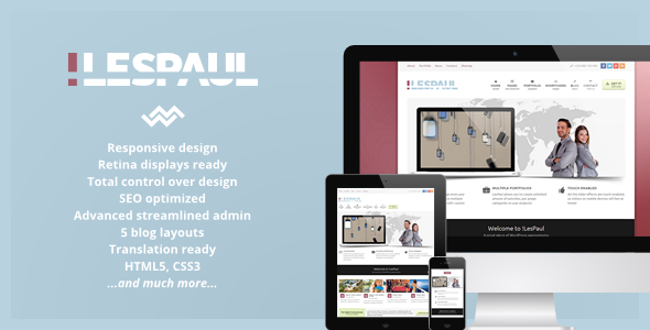 ThemeForest LesPaul Retina Responsive WordPress Theme 4083224