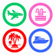 96 pcs. Vacation Icons. Travel Symbols - GraphicRiver Item for Sale