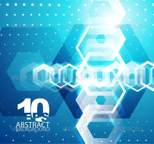 GraphicRiver Hexagon Hi-Tech Abstract Background 4083407
