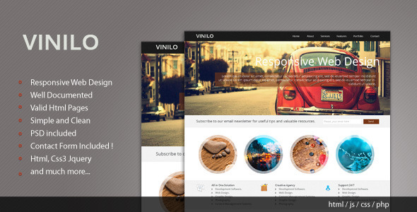 Vinilo - Responsive HTML Template - Creative Site Templates