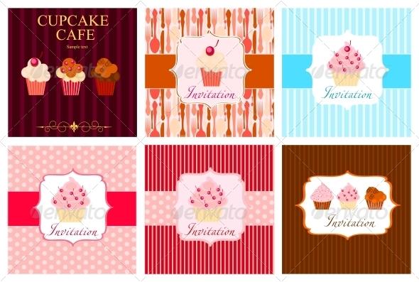 GraphicRiver The Concept of Cupcakes Cafe Menu 4083814