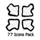 154 Icons Pack (Hand Drawn)