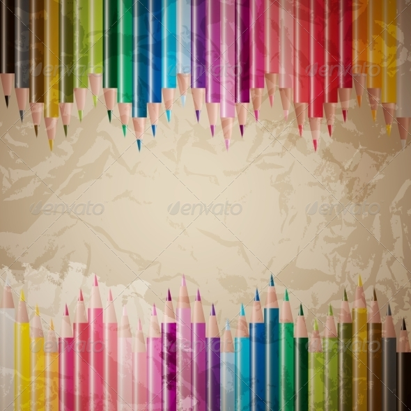GraphicRiver Vector Set of Colored Pencils 4084411