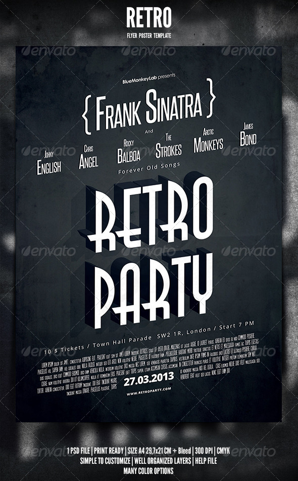 GraphicRiver Retro Flyer Poster 2 4084593