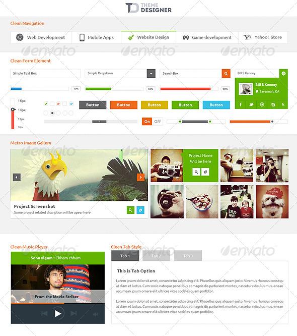 GraphicRiver Metro Type UI kit 3966037