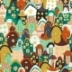 Seamless Pattern with Cartoon Houses - GraphicRiver Item for Sale