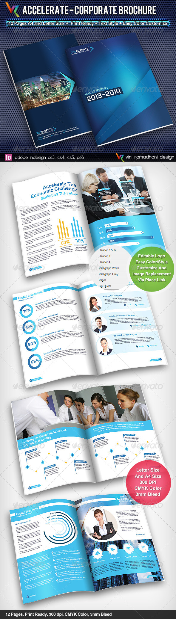 GraphicRiver Accelerate Corporate Brochure 4085207