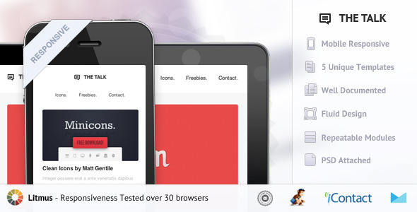 ThemeForest The Talk Responsive E-mail Template 4085374