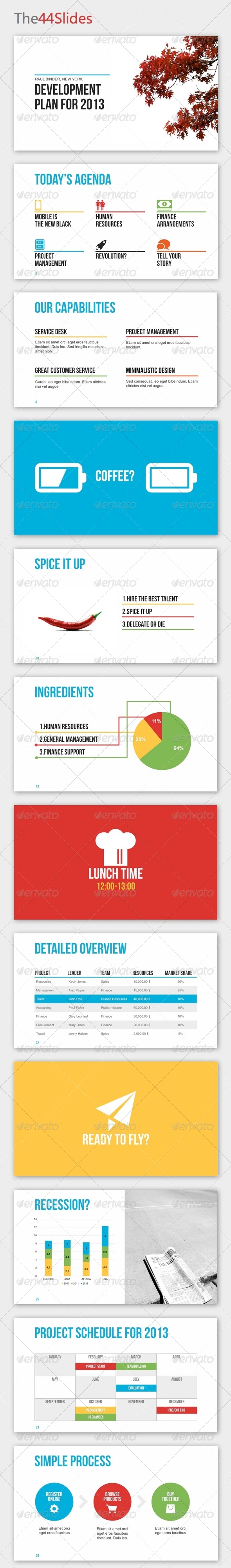 GraphicRiver The44Slides Powerpoint Template 4085888