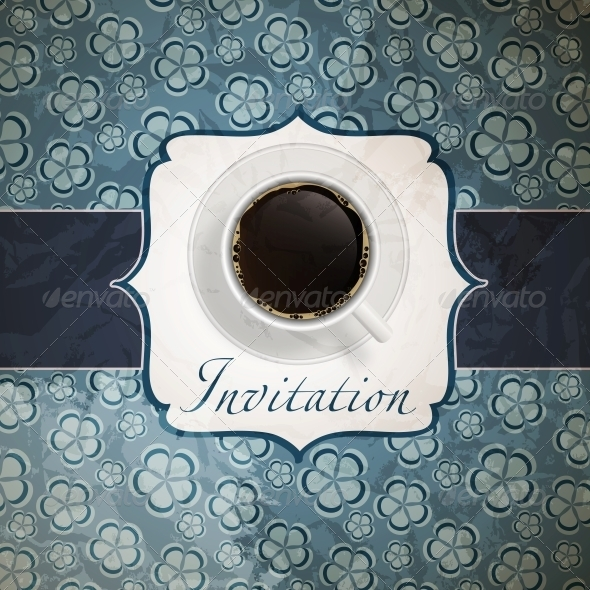 GraphicRiver Coffee Invitation Background 4086160