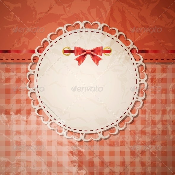 GraphicRiver Vintage Frame with Bow Vector Illustration 4086262