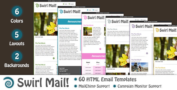 Swirl Mail - Newsletters Email Templates
