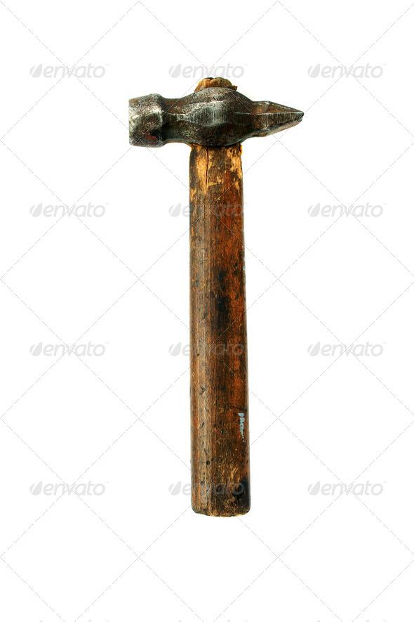 PhotoDune Grunge hammer isolated 4088361