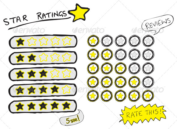 GraphicRiver Star Ratings Sketch 4087532