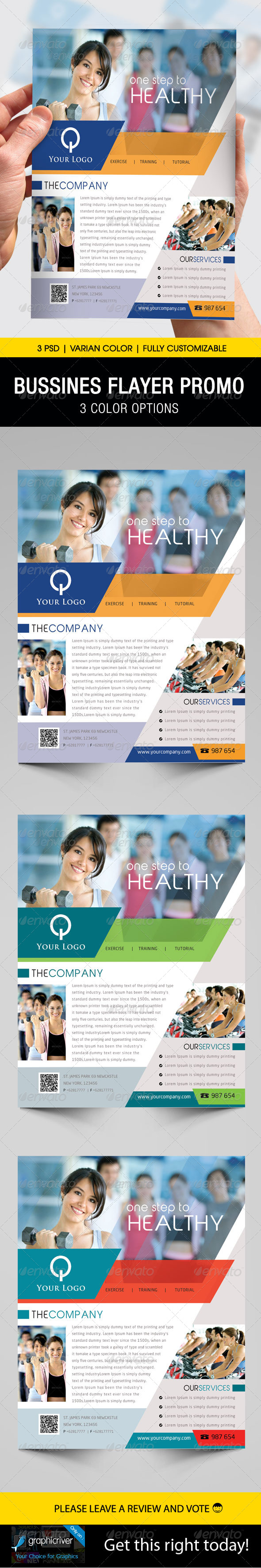 GraphicRiver Business Flyer Template 3979180