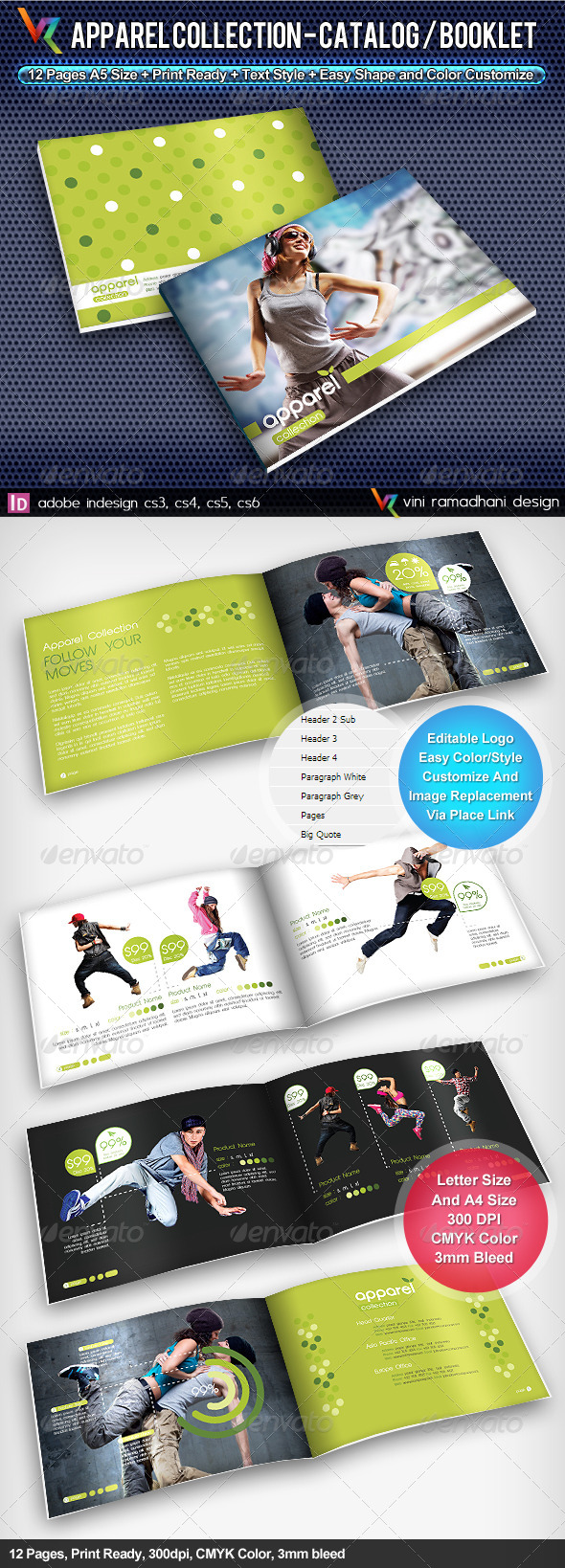 GraphicRiver Apparel Collection Catalog Brochure 4087611