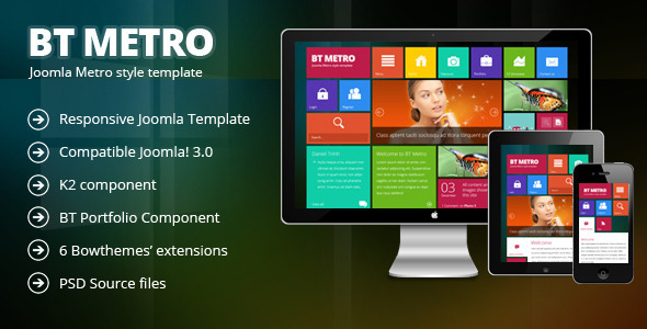 ThemeForest BT Metro Responsive joomla 3.0 template 4089702