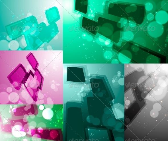 GraphicRiver Set for Abstract Vector Background 4091230