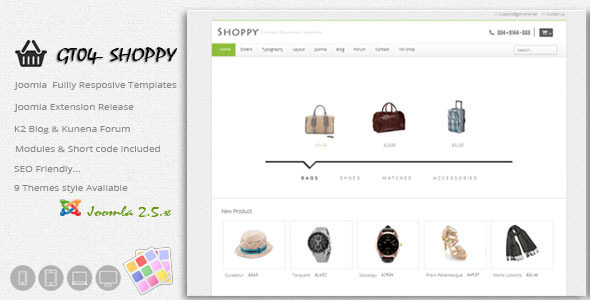 ThemeForest GT04 Virtuemart Shop Joomla Responsive Themes 4082354