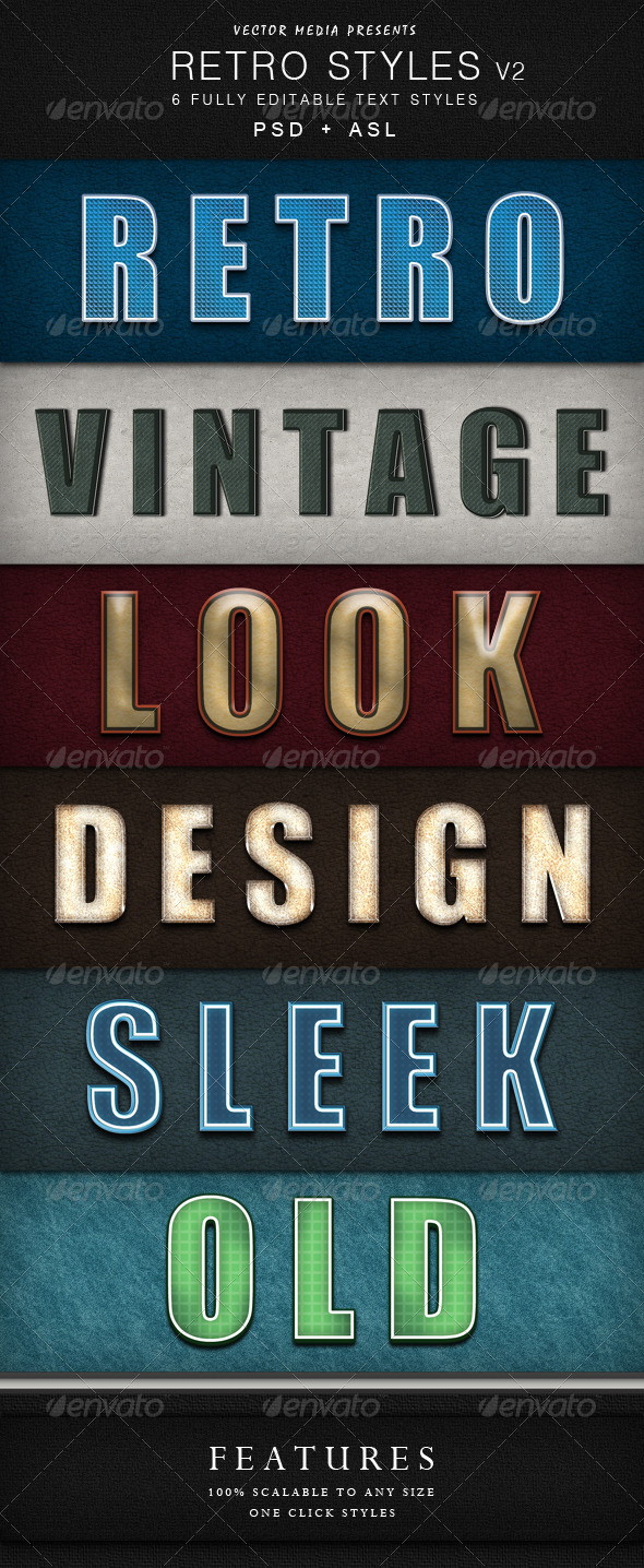 GraphicRiver Retro Styles Vol.2 4091493