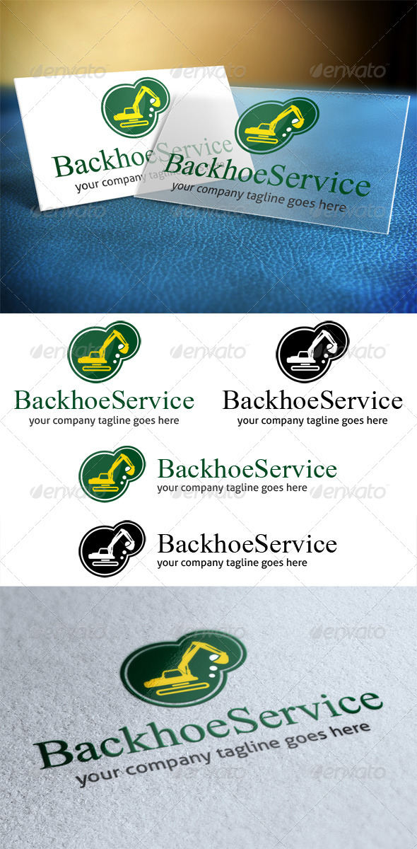 Backhoe Service Logo - Objects Logo Templates