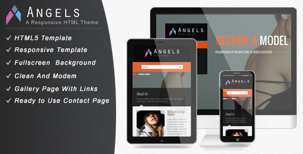 Angel - Responsive Model Agency Website Template