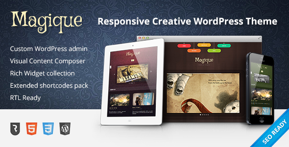 ThemeForest Magique Ultimate Creative WordPress Theme 4083463