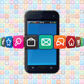 Smartphone with Apps Icons - PhotoDune Item for Sale