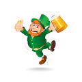 Cute Jumping Leprechaun. Isolated Cartoon Image - PhotoDune Item for Sale