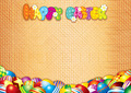 Happy Easter Card. Decorative Background - PhotoDune Item for Sale