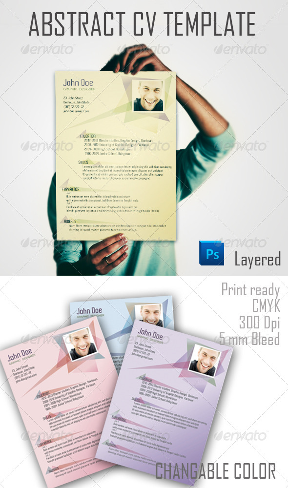 GraphicRiver Abstract CV Template 3922682