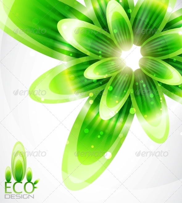 GraphicRiver Eco Leaf Abstract Background 4093414
