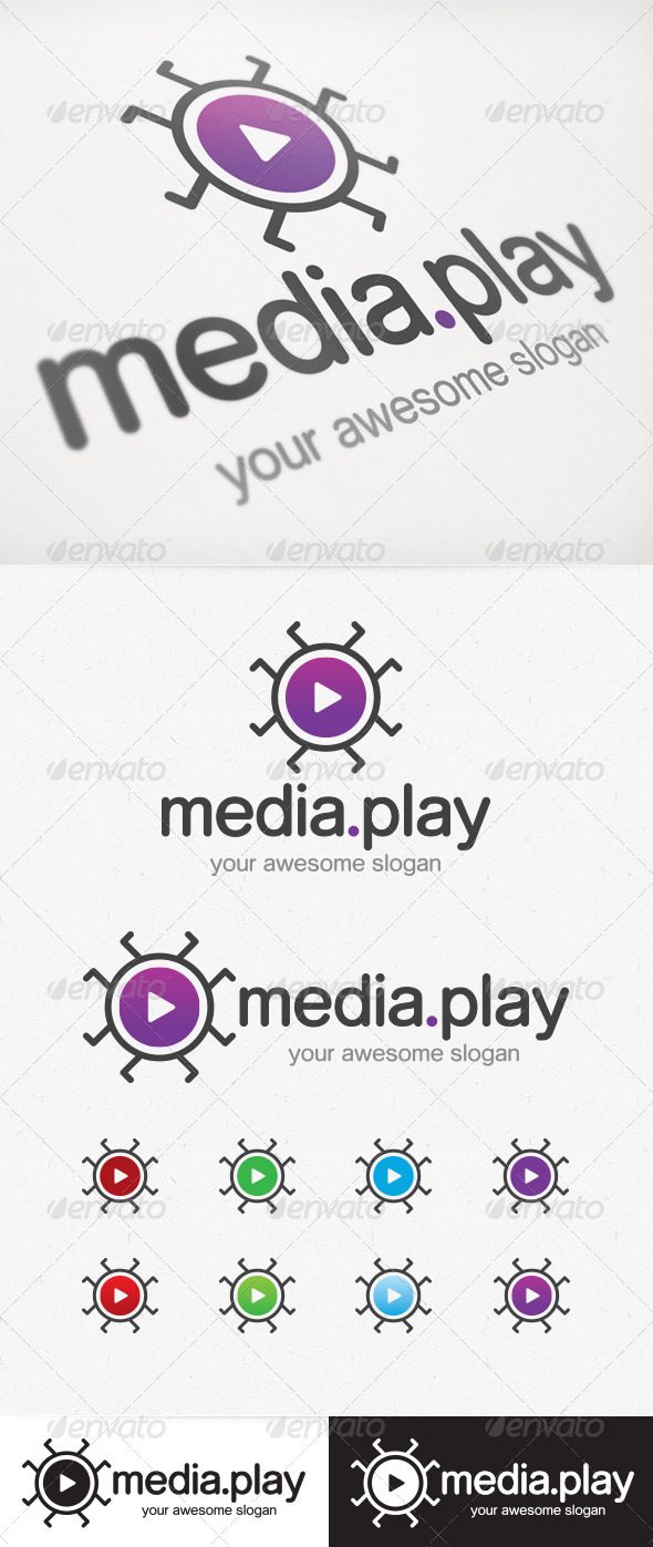 GraphicRiver Media Play Logo 3982081