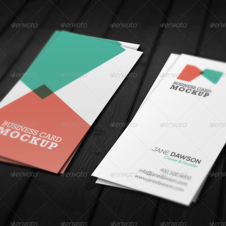 Stylish Business Card Mock-up