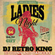Vintage Style Ladies Night Flyer - GraphicRiver Item for Sale