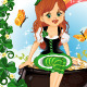 Elf Girl Sitting on Pot of Gold  - GraphicRiver Item for Sale