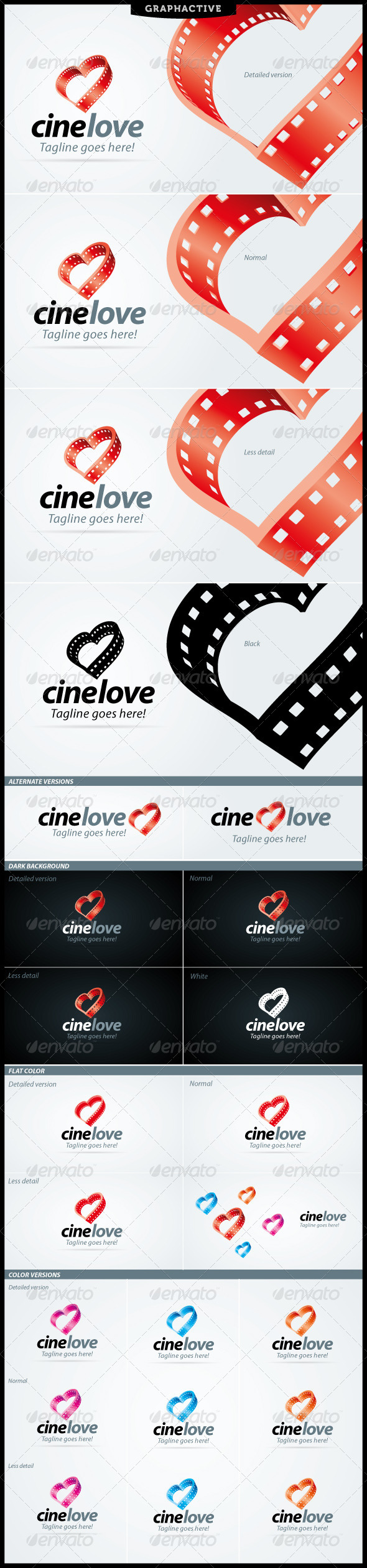 CineLove Logo For Video And Film Business - Symbols Logo Templates