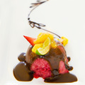 Strawberry icecream with chocolate sauce - PhotoDune Item for Sale