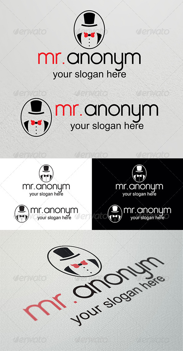 GraphicRiver Anonym Logo Template 4016670